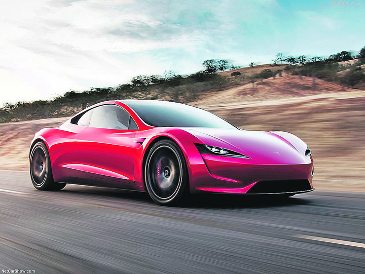Tesla-Roadster - despite the high price of Tesla's cars are very popular, NOT RECOMMENDED USE, as this is not a known author, it is preserved in the editor of the folder for December 24, 2017, as