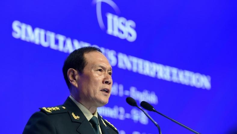 The Chinese government 'took measures to stop the turbulence which is a correct policy,' Defence Minister Wei Fenghe told a forum in Singapore