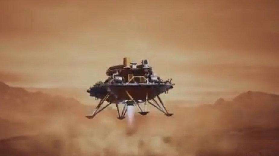 Tak wygląda chińska sonda, która wylądowała na powierzchni Marsa