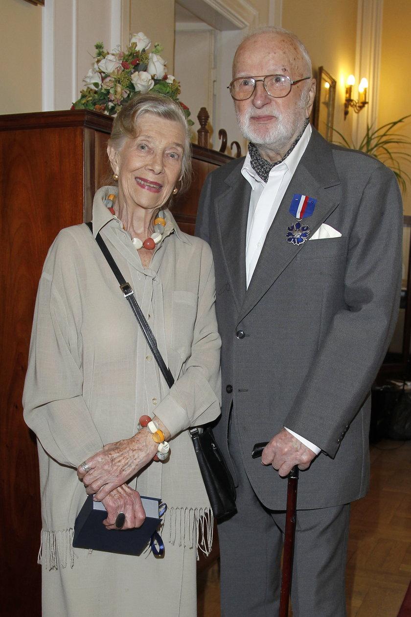 Wiesława Mazurkiewicz i Gustaw Lutkiewicz