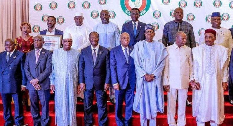 ECOWAS leaders took the decision at a meeting in Abuja, Nigeria