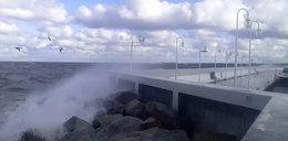 Sztorm na Bałtyku. Wichura uszkodziła sopockie molo