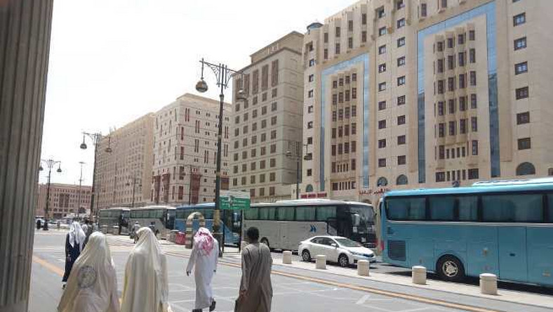 Some luxurious hotels where Nigerian pilgrims are lodging in Madinah (NAN Photo)