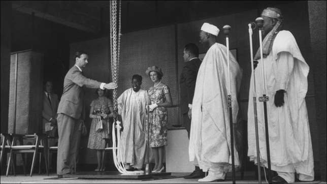 The celebrations were also topped by a grand ceremony hosted by the prime minister, Abubakar Tafawa Balewa (Credit - Lost Photos)