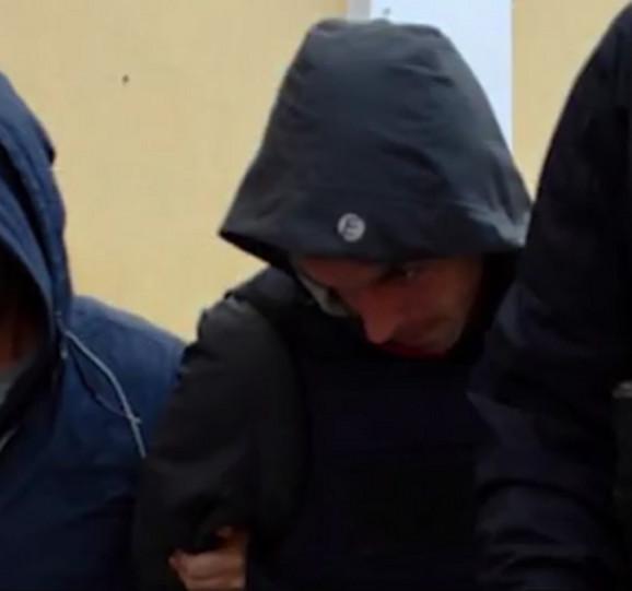Martin Matijašević prilikom privođenja u policiju