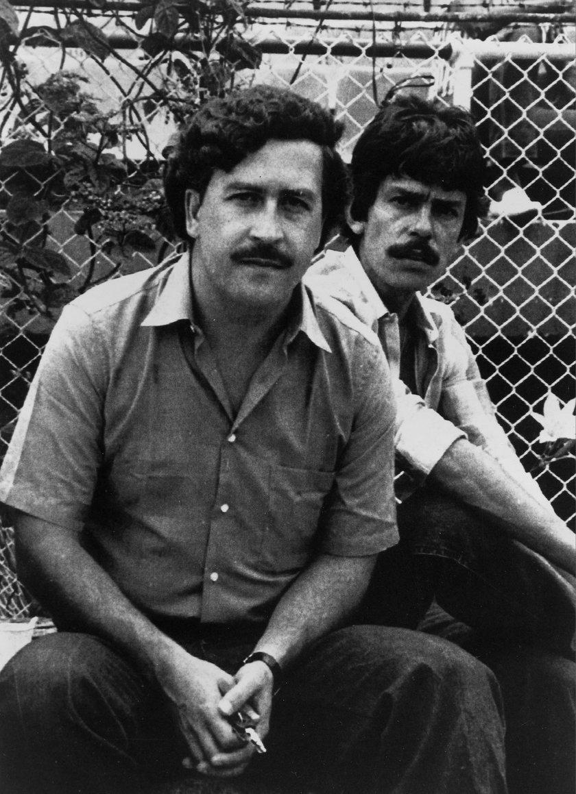 Zrobił to na grobie Escobara