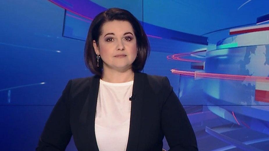 """Edyta Lewandowska w """"Wiadomościach"""" TVP"""