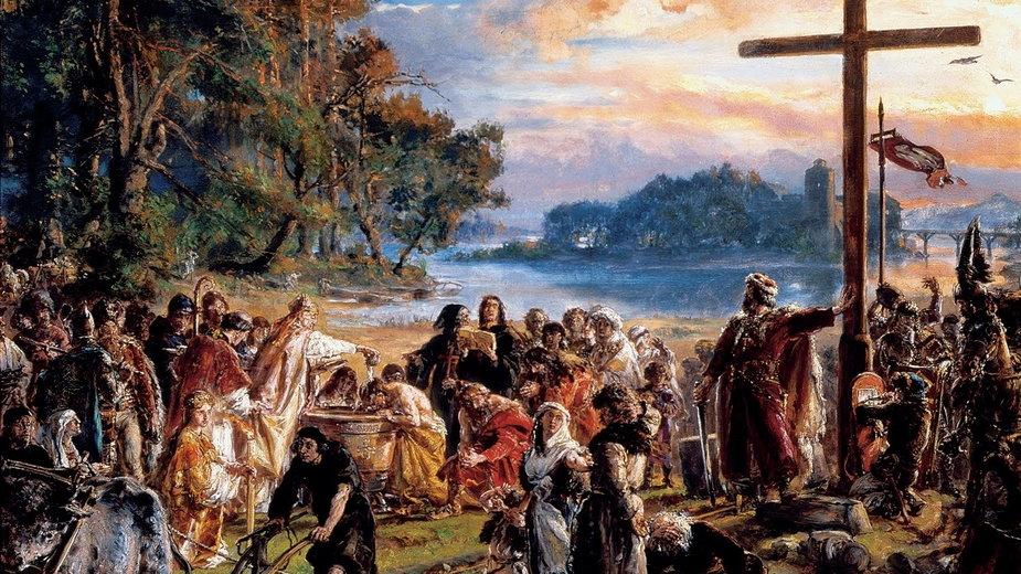 Chrzest Polski w państwie Piastów na obrazie Jana Matejki