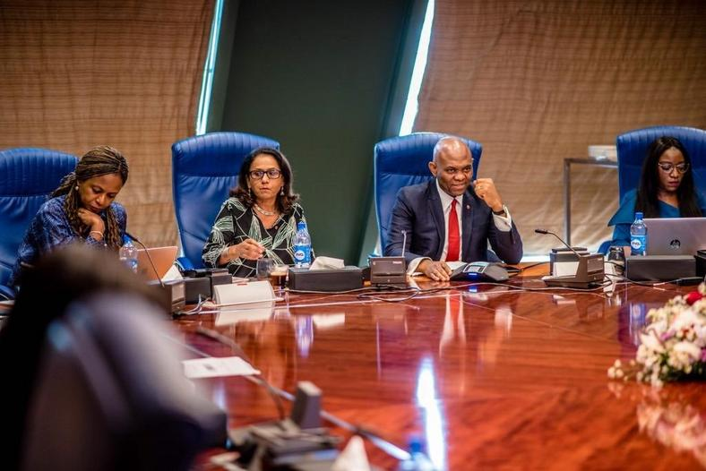 TEF board during the selection announcement at Transcorp Hilton Hotel, Abuja on Friday, March 22, 2019