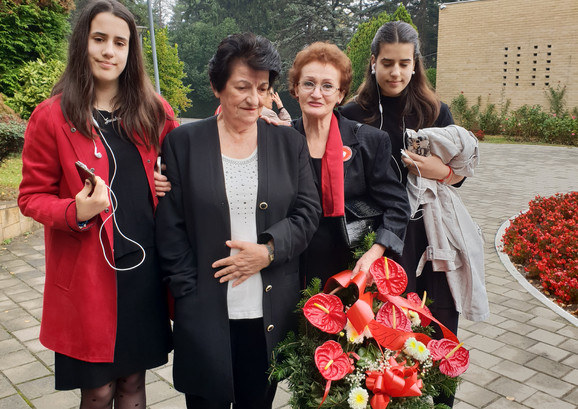 Nada Budisavljević sa porodicom