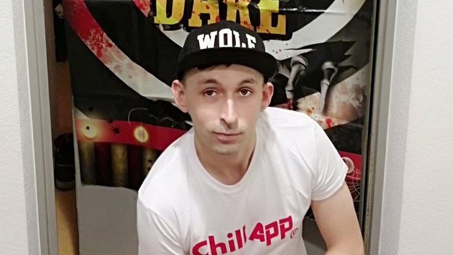 Przemysław P., podający się za Davida Manzheleya, organizator gejowskiej orgii w Brukseli