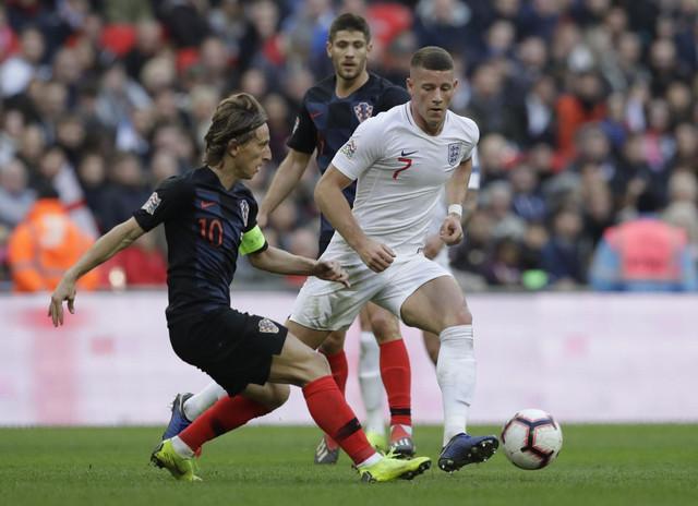 Luka Modrić, najbolji fudbaler sveta, na meču između Engleza i Hrvata