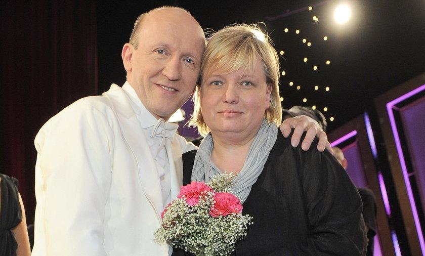 Artur Barciś z żoną