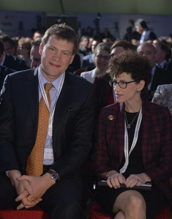 Direktor MMF za Srbiju Džejms Ruf i direktorka SB Elen Goldstin