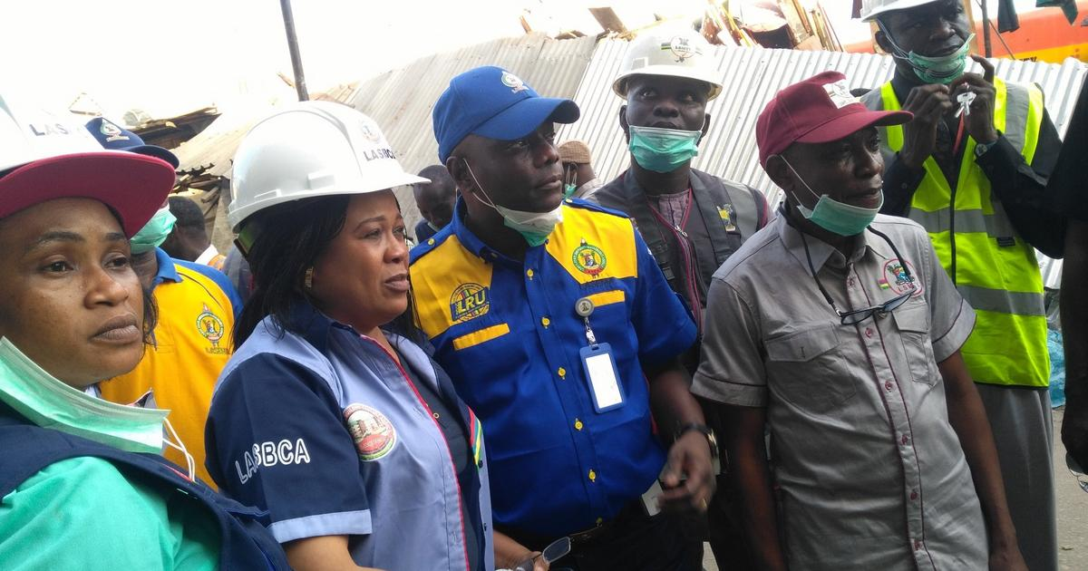 LASG begins enumeration of Balogun market fire victims, embarks on buildings' integrity test - Pulse Nigeria