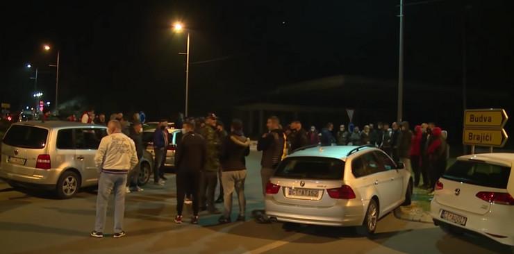 Cetinje, protest, autoput