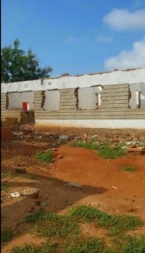 Nyota's old house during the demolition (Courtesy)