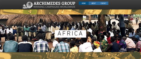 A screenshot of Archimedes Group's homepage [Archimedes Group]