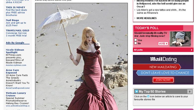 Kidman plażuje w balowej sukni