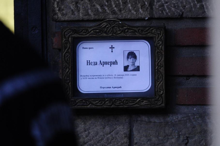 Kremacija Nede Arnerić