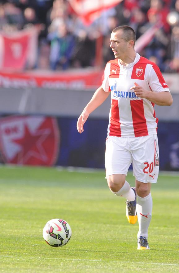 Miloš Bosančić dok je nosio dres Crvene zvezde