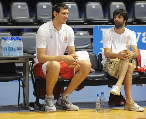 Boban Marjanović i Miloš Teodosić