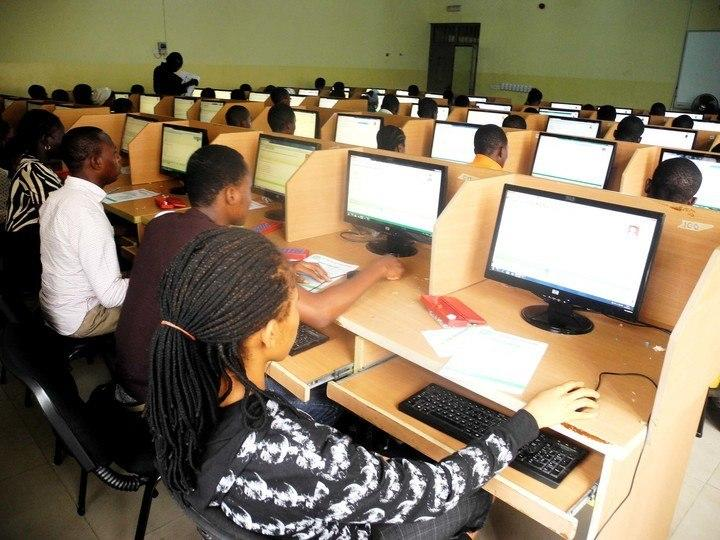 Candidates writing UTME at a CBT centre