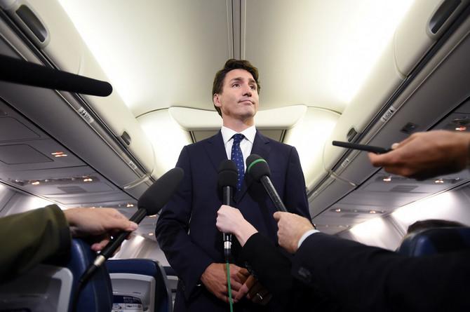 Džastin Trudo juče na konferenciji za novinare u Halifaksu u Kanadi