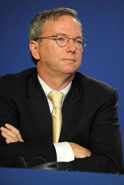 Eric Schmidt. Guillaume Paumier | Wikimedia Commons.