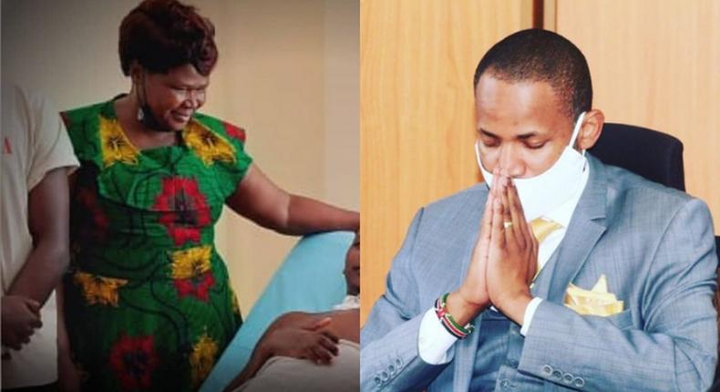 MP Babu Owino mourns DJ Evolve's Mother Mary Hongo