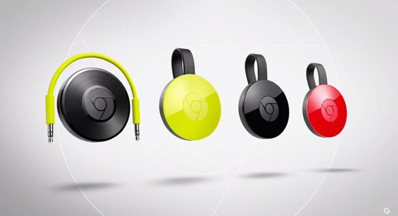 Google Chromecast for Audio and the new Google Chromecast in its various colors
