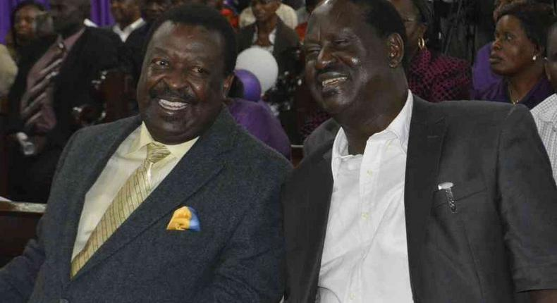 Cord leader Raila Odinga (right) has said he will work Amani National Congress leader Musalia Mudavadi in the run up to the 2017 general elections.