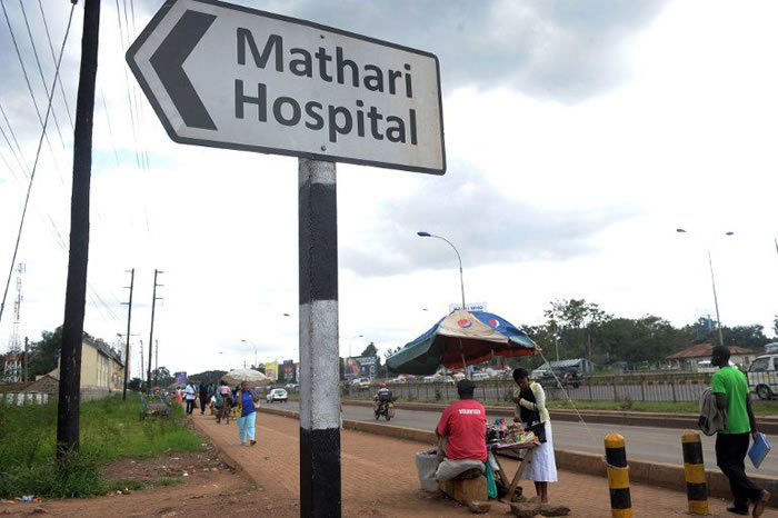 Sign post to the Mathari National Hospital (Twitter)
