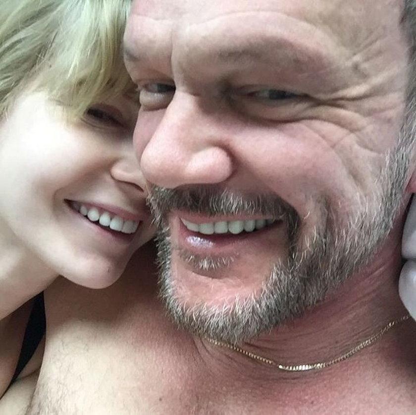 Edyta Pazura z mężem
