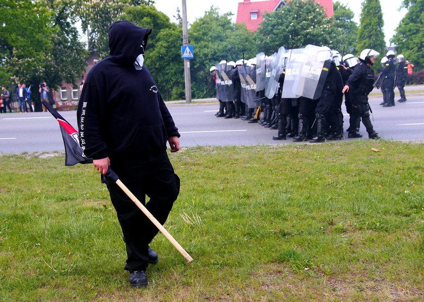 Policja podczas zamieszek w Gdańsku