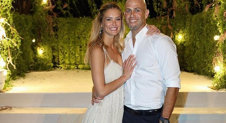 Bar Refaeli gave fans a glimpse of her big day by sharing an official photo of her posing with new husband right after tying the knot
