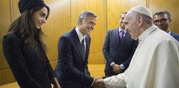 Amal Clooney znów zachwyciła. Tym razem na spotkaniu z papieżem