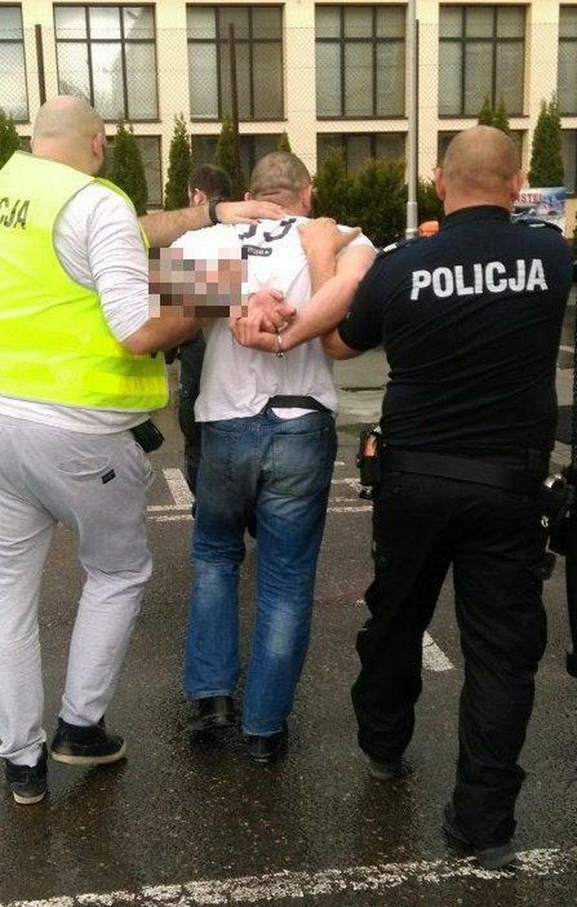 Potrącił policjanta i uciekł
