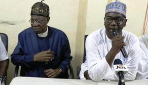 Minister of Information and Culture, Alhaji Lai Mohammed and Kwara state Governor, Abdulrahman Abdulrazaq.
