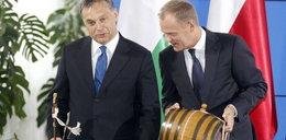 Premier Węgier dał Tuskowi alkohol
