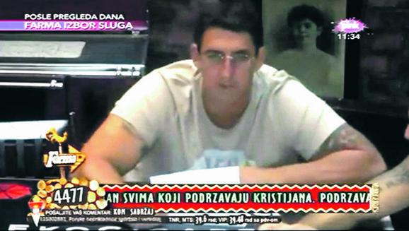 Zabrinut: Golubović je rešenje o odbijanju dobio u rijalitiju