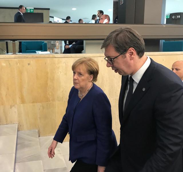 Angela Merkel i Aleksandar Vučić u Sofiji