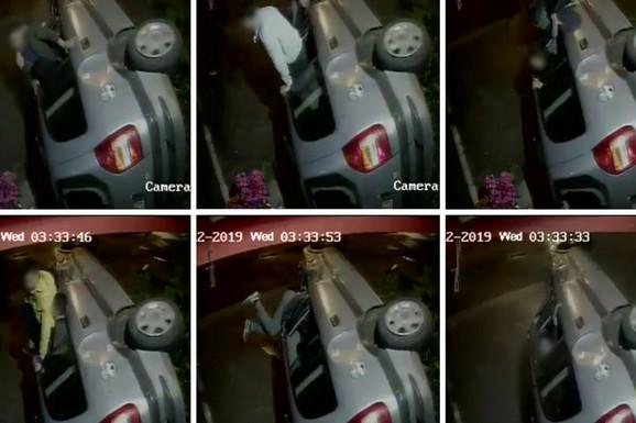 ŠOK SNIMAK SAOBRAĆAJKE IZ ZEMUN POLJA Automobil se prevrnuo, udario u izlog prodavnice, a onda su iz njega počeli da ISKAČU TINEJDŽERI (VIDEO)