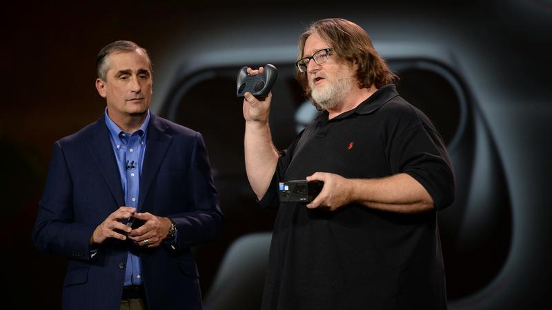 CEO Intela Brian Krzanich i współzałożyciel Valve, Gabe Newell