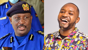 Inspector General of Police Hillary Mutyambai and activist Boniface Mwangi