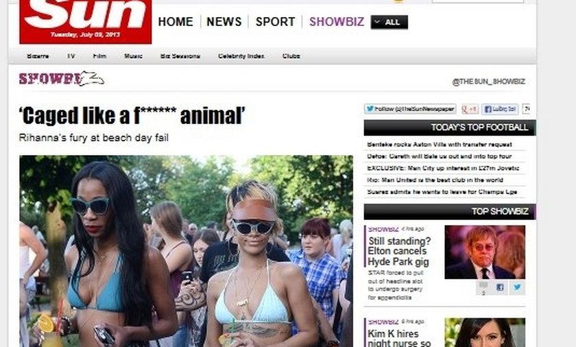 Zagraniczne media o Rihannie w Polsce