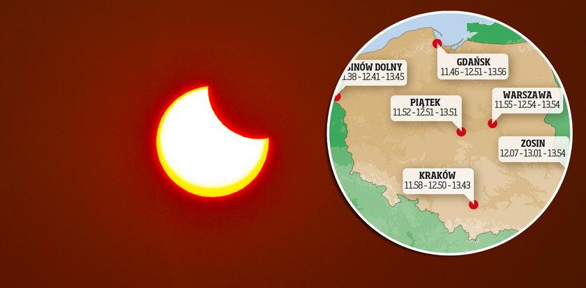 Uwaga, zbliża się wyjątkowe zjawisko. W czwartek Słońce zmieni kształt. O której godzinie patrzeć w niebo?