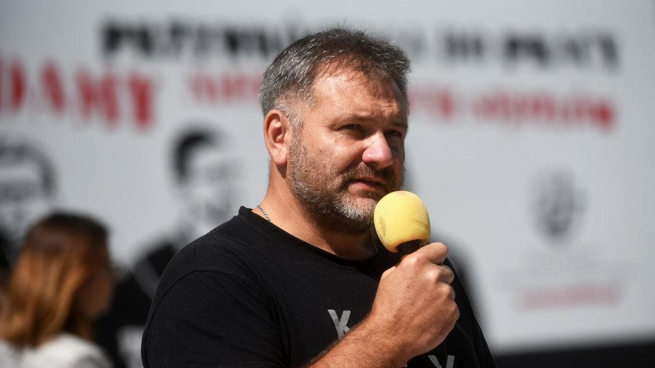 Waldemar Żurek podczas protestu prawników w sprawie Wolnych Sądów w Krakowie