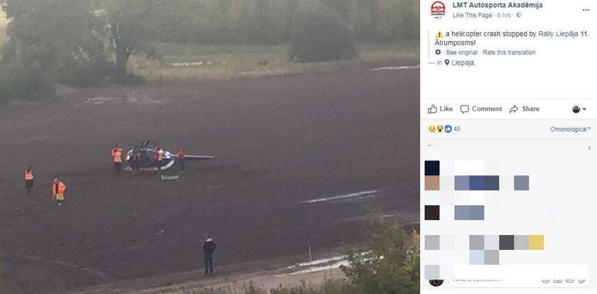 Katastrofa helikoptera na rajdzie. Kajetanowicz wycofuje się z imprezy