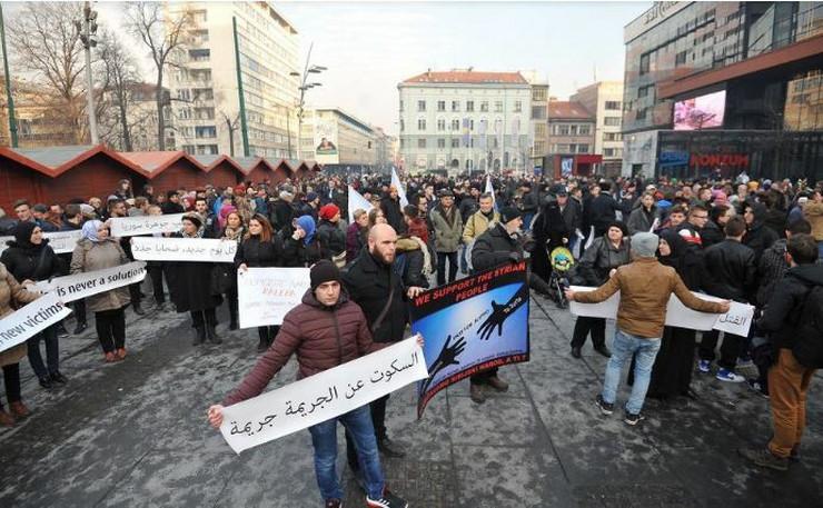 Mitnig podrške Sarajevo Sirija